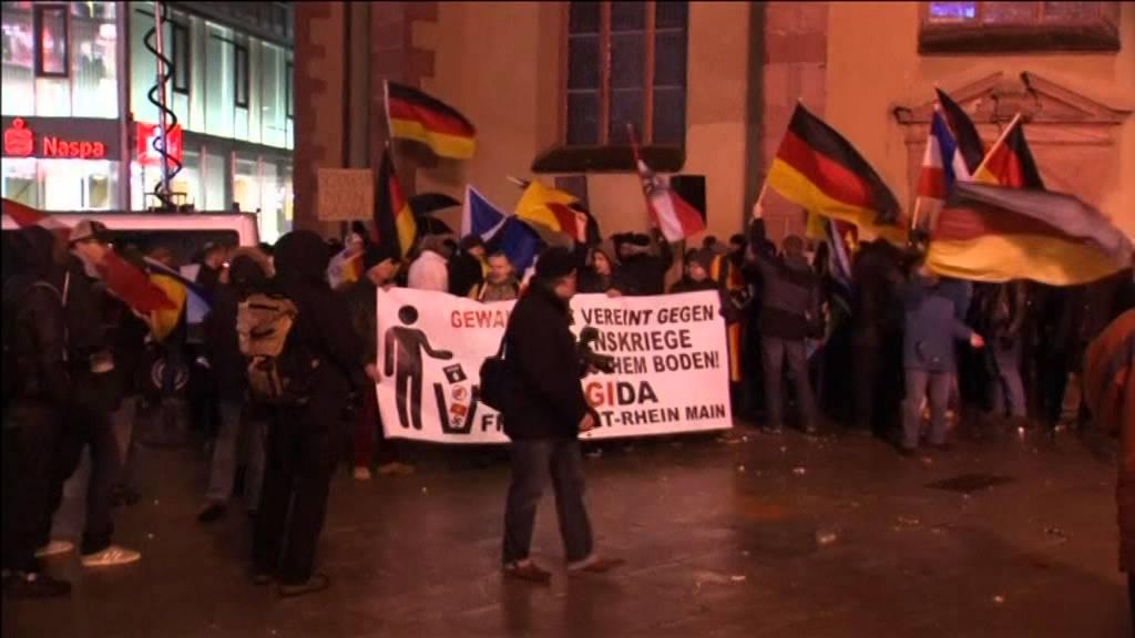 Frankfurt PEGIDA'ya geçit vermedi, Hannover'de arbede çıktı