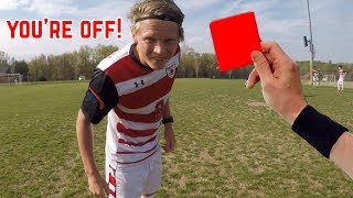 D1 College Soccer Game From A Referee's Perspective