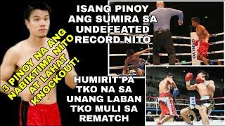 🇵🇭 Japanese Fighter Humirit Ng Rematch TKO Na Una TKO Muli Sa Pangalawang Laban
