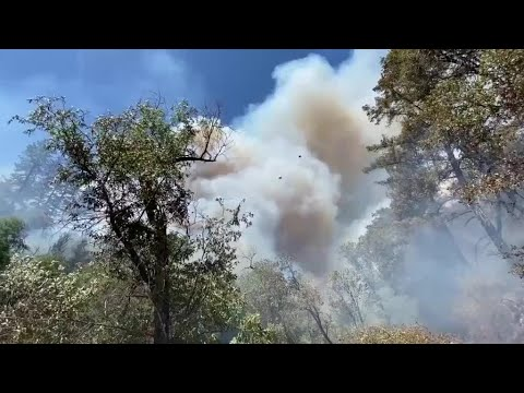 River Fire Burns Near Colfax