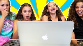 Reacting To Our FIRST Original Music Videos! (Haschak Sisters)