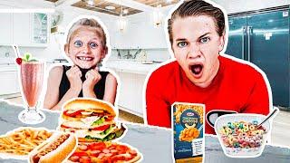 15 Siblings SWAP DIETS for 24HRS!!