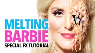 Melting Barbie halloween makeup tutorial