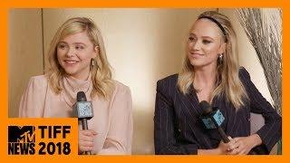 Chloë Grace Moretz & Maika Monroe on 'Greta' | TIFF 2018 | MTV News
