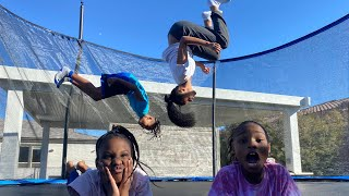 I surprised My Kids With a New Trampoline & Camari With A Bike!