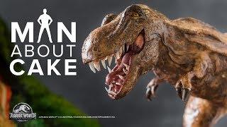Epic Dinosaur Cake for JURASSIC WORLD: FALLEN KINGDOM Premiere | Man About Cake