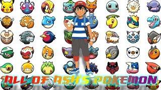 All of Ash's Pokemon