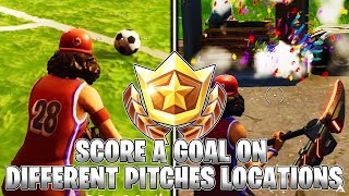 SCORE A GOAL ON DIFFERENT PITCHES! ALL PITCH LOCATIONS! (Fortnite Season 4)