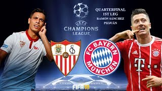 FIFA 18 | Sevilla vs Bayern München | UEFA Champions League 2017-18 Highlights & Goals | 1st Leg Q8