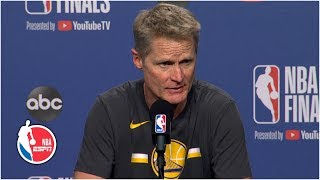 Steve Kerr proud of Warriors for Game 5 win, crushed about Kevin Durant injury | 2019 NBA Finals