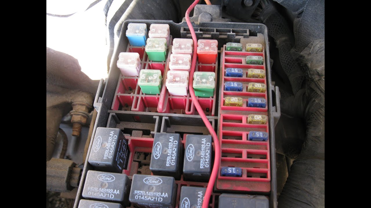 Pic X moreover A also Maxresdefault likewise Ford Excursion Fuse Box Diagram Passenger  partment moreover Ford E Series E Power Distribution Box X. on 1999 ford super duty fuse panel diagram