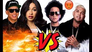 Cardi B graba con El Alfa El Jefe VS El Mayor Clasico con Daddy Yankee   Gezzy TV