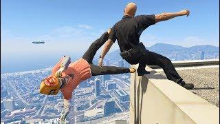 GTA 5 CRAZY Jumps/Falls Compilation #4 (Grand Theft Auto V Fails Funny Moments)