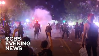 Police and protesters clash amid unrest across USA..