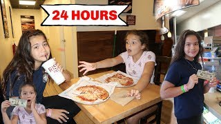 EATING 24 HOURS WITH ONLY $20 DOLLARS CHALLENGE | SISTER FOREVER
