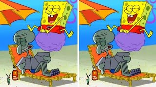 CAN YOU SPOT THE DIFFERENCE?! SPONGEBOB EDITION! SABES LA DIFFERENCIA!