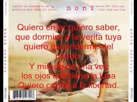 Quiero Ser-Amaia Montero Con Letra