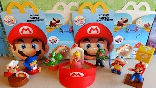 2015 Super Mario Toys Complete Set in Happy Meal McDonalds Europe Unboxing