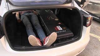 Tesla Model 3 interior, seat and cargo space