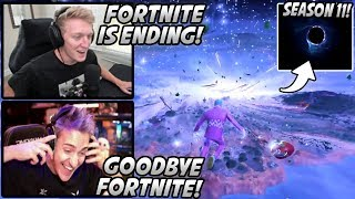 Tfue & Ninja React To Fortnite Season 11 ENDING EVENT With The BEST POV! Fortnite ACTUALLY ENDED?!