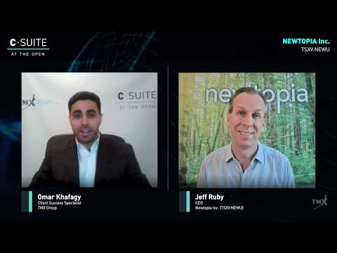 C-Suite At The Open: Jeff Ruby, Chief Executive Officer, Newtopia Inc., tells his Company's Story. Filmed on April 27, 2020