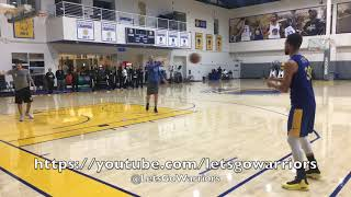 Steph Curry buries 93 of 100 (26 in a row straight) threes after Warriors practice, day b4 Clippers
