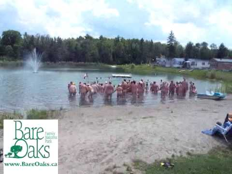 Skinny-dipping at Bare Oaks for a Guinness World Record