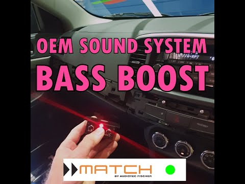 Difference between original and MATCH car audio system