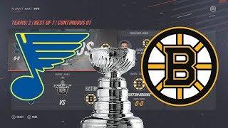 St. Louis Blues vs Boston Bruins Stanley Cup Finals Sim NHL 19