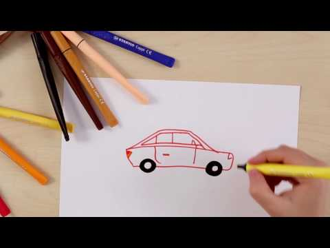 How to draw a car (STABILO Tutorials, intermediate)