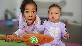 Cali Saves Baby Sister With Magic Wand!