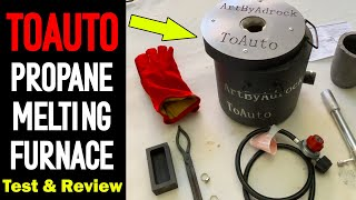 Casting Metal With The TOAUTO Propane Furnace - Full Test & Review