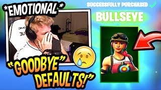 Tfue FINALLY Buys The *NEW* BULLSEYE SKIN And Explains Why...(EMOTIONAL) Fortnite SAD Moments