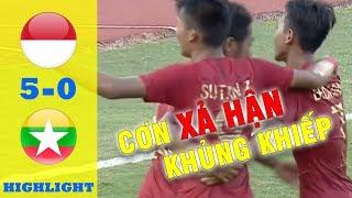 HIGHLIGHT U18 Indonesia 5-0 U18 Myanmar|  Tranh giải 3 U18 Đông Nam Á ( U18 AFF CUP 2019)