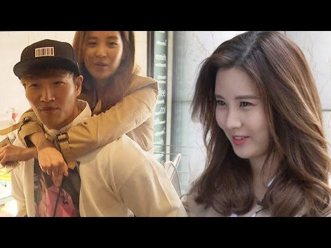 Seohyun goes for a ride on Kim Jong Kook's back 《Running Man》런닝맨 EP425