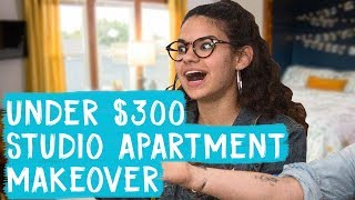 Studio Apartment Makeover for Under $300! | Mr. Kate Decorates