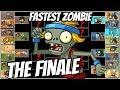 The FASTEST ZOMBIE! Captain Hack Wacky Race The Final Round- Plants vs Zombies 2 Epic MOD