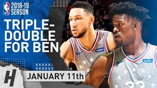 Ben Simmons Triple-Double & Jimmy Butler Highlights 76ers vs Hawks 2019.01.11 - 30 Pts for Jimmy