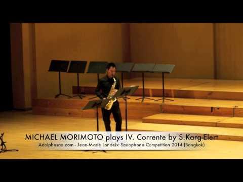 MICHAEL MORIMOTO plays IV Corrente by S Karg Elert