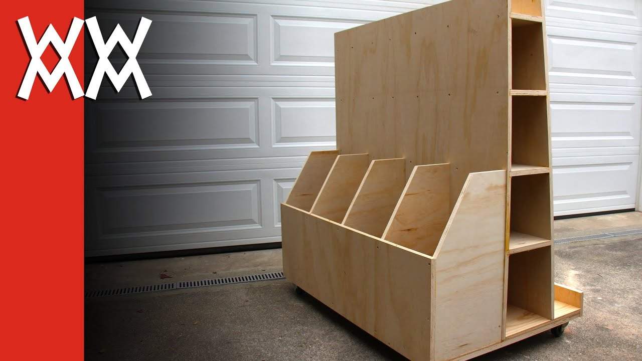 Build A Lumber Storage Cart For Your Workshop Youtube