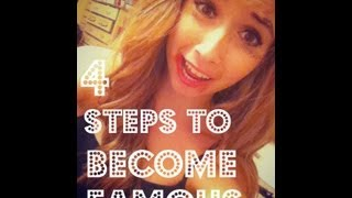 HOW TO BECOME FAMOUS | OhDangItsKels