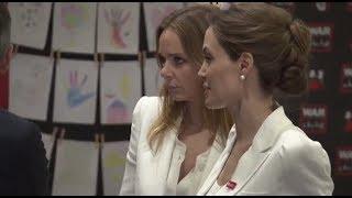 UN Special Envoy Angelina Jolie and Stella McCartney visit the Fringe
