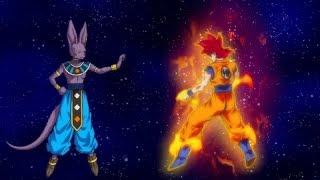 Dragonball Z Battle of Gods Goku Super Saiyan God vs Beerus