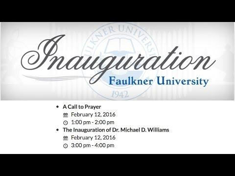 Faulkner University 2016 Inauguration