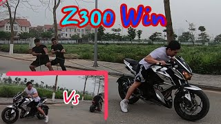 Z300 Kéo Co Với Z1000   Sức Mạnh Của Z300 và Z1000.