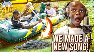 WOO MADE A NEW SONG & WE RODE A BOAT IN THE LAKE!