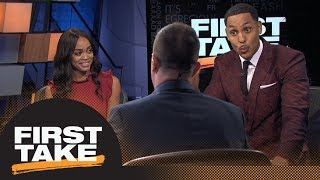 First Take gets heated debating if LeBron James will get a Lakers statue | First Take | ESPN