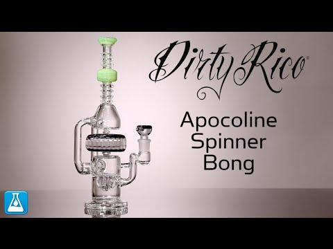 Dirty Rico Glass  Apocoline Spinner Bong
