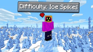 Can You Beat Minecraft Hardcore In An Ice Spikes Only World?