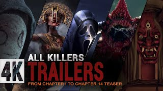 Dead by daylight All Killers Trailers   Chapter 1 - Chapter 14 Teaser   DBD Killer